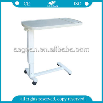 2014 ag obt002 ce goedgekeurd abs materiaal hoogte verstelbare ziekenhuis slaapkamer kant tv tafeltje