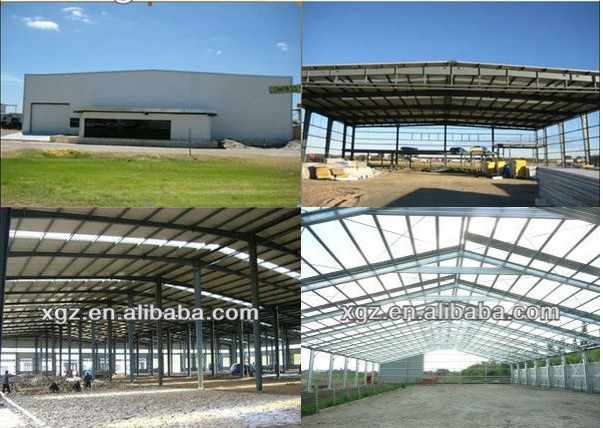 Fast building and low cost shed house steel structure shed fabric frame