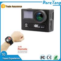 UHD 4K WiFi Action Camera Waterproof 2 inch TFT LCD Screen camera helmet head cams sport cameras review