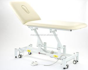 Beauty design hot sales adjustable two section electric massage bed spa equipment CY-C107