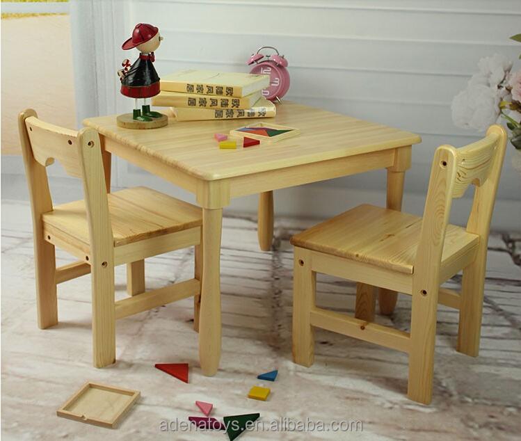 Mesa cuadrada 2 sillas ni os escritorio montessori - Mesa madera ninos ...