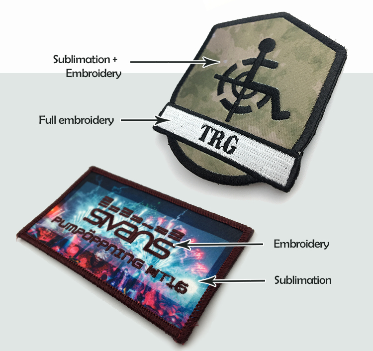 Custom sublimation printed patches fashional vivid image printed  digital patches