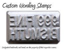 Metal Stamps, Logo Stamps, Leather Stamps Gold Stamps