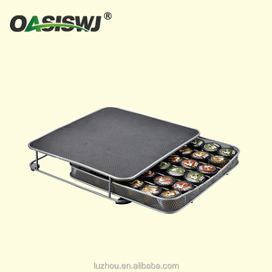 OASISWJ Factory Supply BSCI Caffitaly Coffee Pod Capsule Storage Drawer with 30 pods