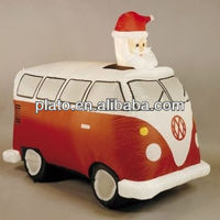 Creative design top quality Inflatable Santa in Retro VW Camper Van FOR christmas decoration
