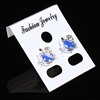 3*3.7CM Fashion Earring Card Blank Jewelry Cards Plastic Ear Studs Hang Price Tags Earring Jewelry Display Cards