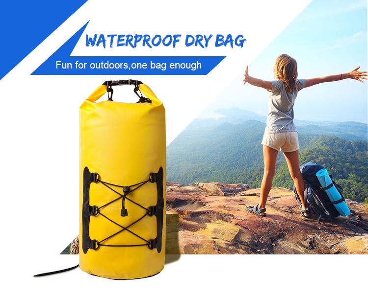 กระเป๋ากันน้ำที่มีสายคล้องไหล่และที่จับสำหรับพายเรือตกปลาท่องทะเลว่ายน้ำและกีฬาอื่น ๆ