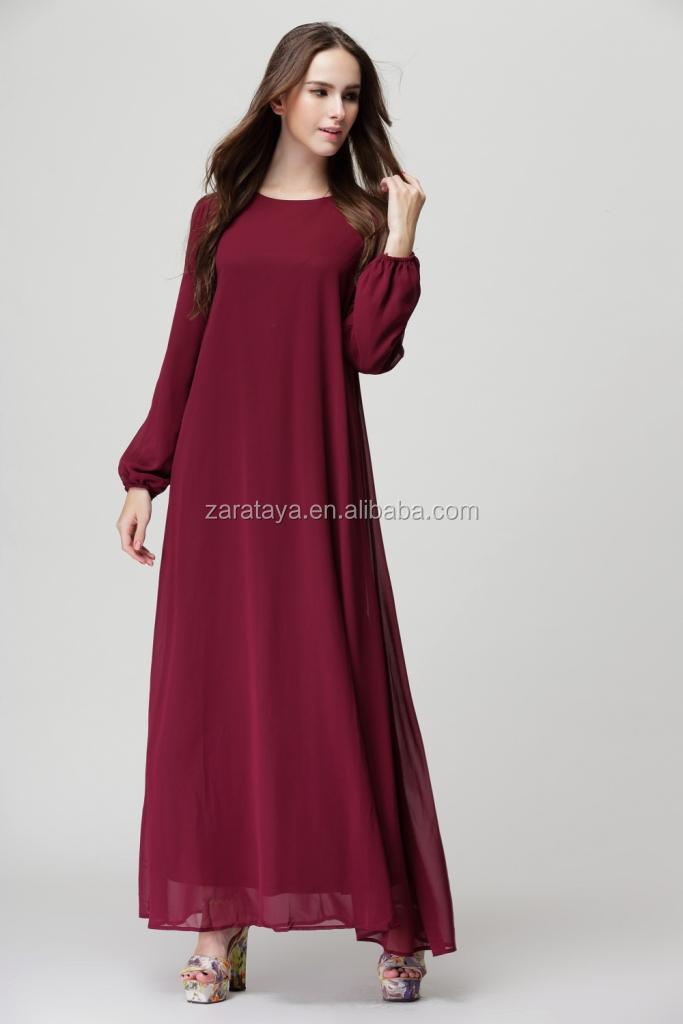 robe longue manche longue musulmane la mode des robes de france. Black Bedroom Furniture Sets. Home Design Ideas
