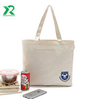 OEM Reusable biodegradable Cotton canvas cloth bags with custom printed logo guangzhou
