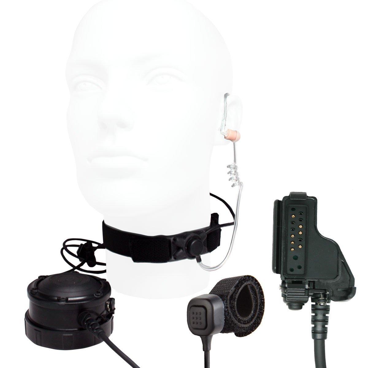 ARC Neck Strap Tactical Throat Microphone for Motorola Radio XTS1500/2500/3000/3500/5000, MTS2000, HT1000, MT1500/2000, MTX838/8000/9000, PR1500, JT1000, MTX-LS