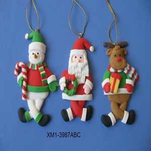 Polymer Clay Christmas Tree Decorations.2018 Item Christmas Decoration Polymer Clay Christmas Ornaments