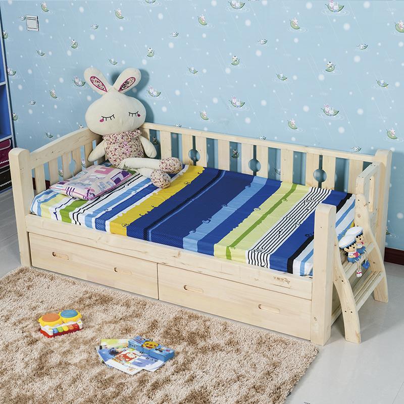 SC0362Kindergarten muebles de madera bebé cuna cama cuna con 4 ...