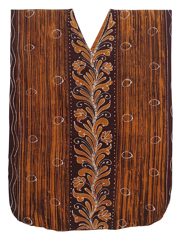 6136c023f8 Get Quotations · La Leela Women's Cotton Plus Cover up Lounge Sleep Night  Wear Caftan Long Dress Kaftan