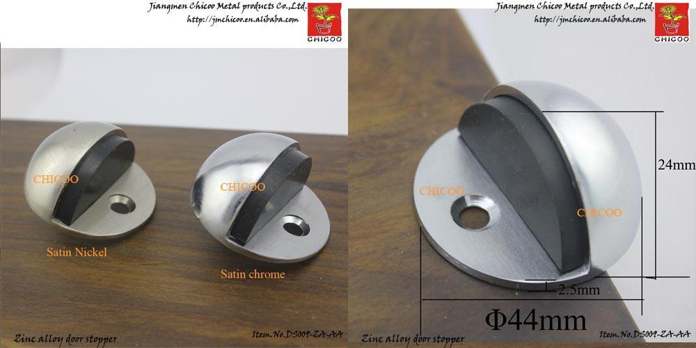 Brushed Nickel Door Stop Zinc Alloy Decorative Floor Door Stopper Door  Hardware
