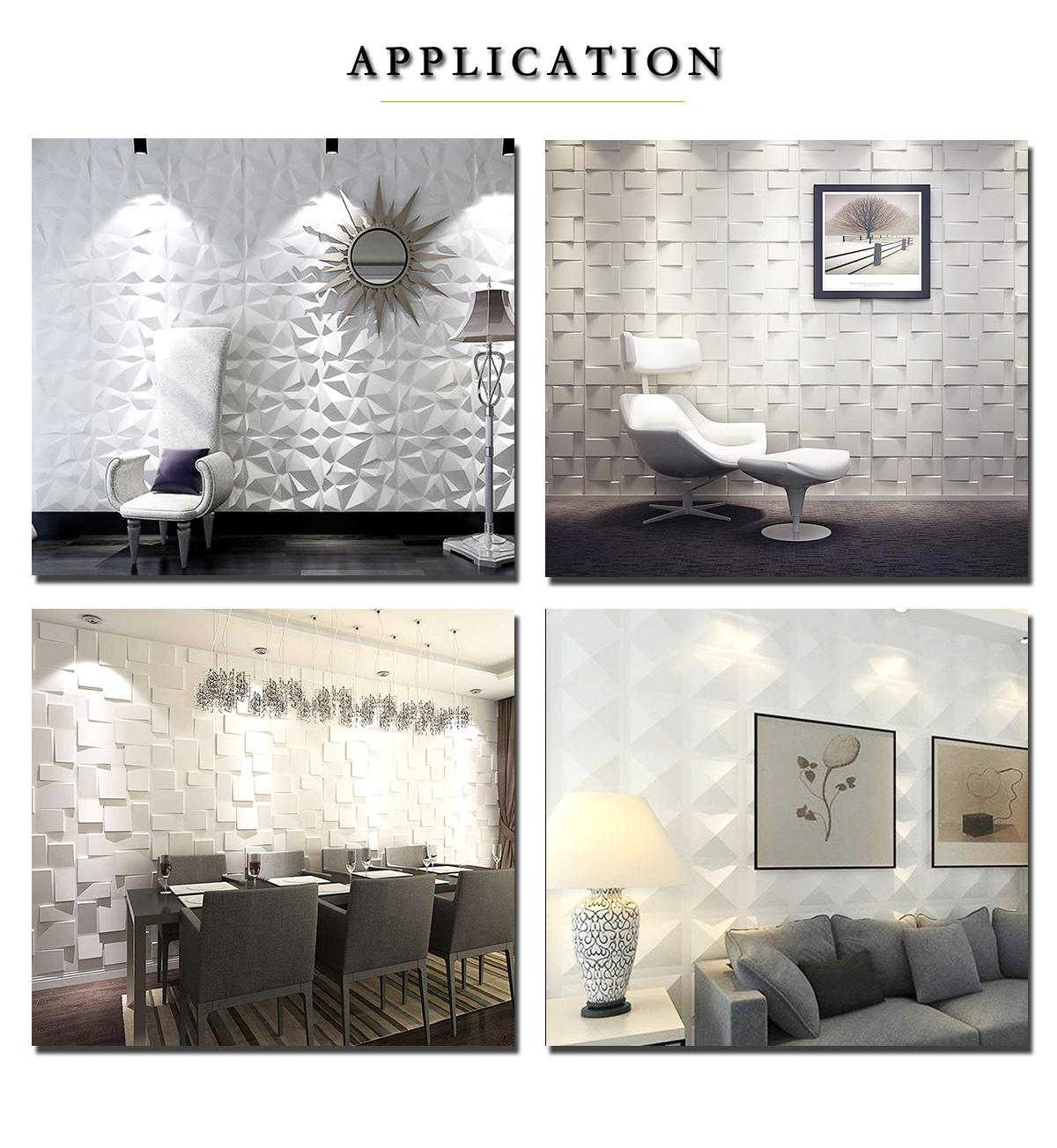 Çeşitli 3D PVC duvar paneli dekorasyon için