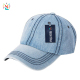 Wholesale plain blue washed denim caps blank baseball cap 6 panel cap men baseball