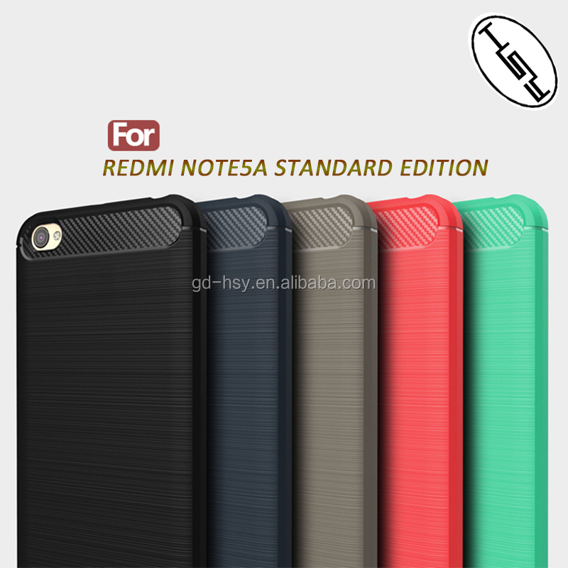 For Xiaomi Redmi Note 5A Back Cover Soft Case Perfect Fit Real Phone/ Brushed Carbon Fiber Slim TPU Case for Redmi Note 5A