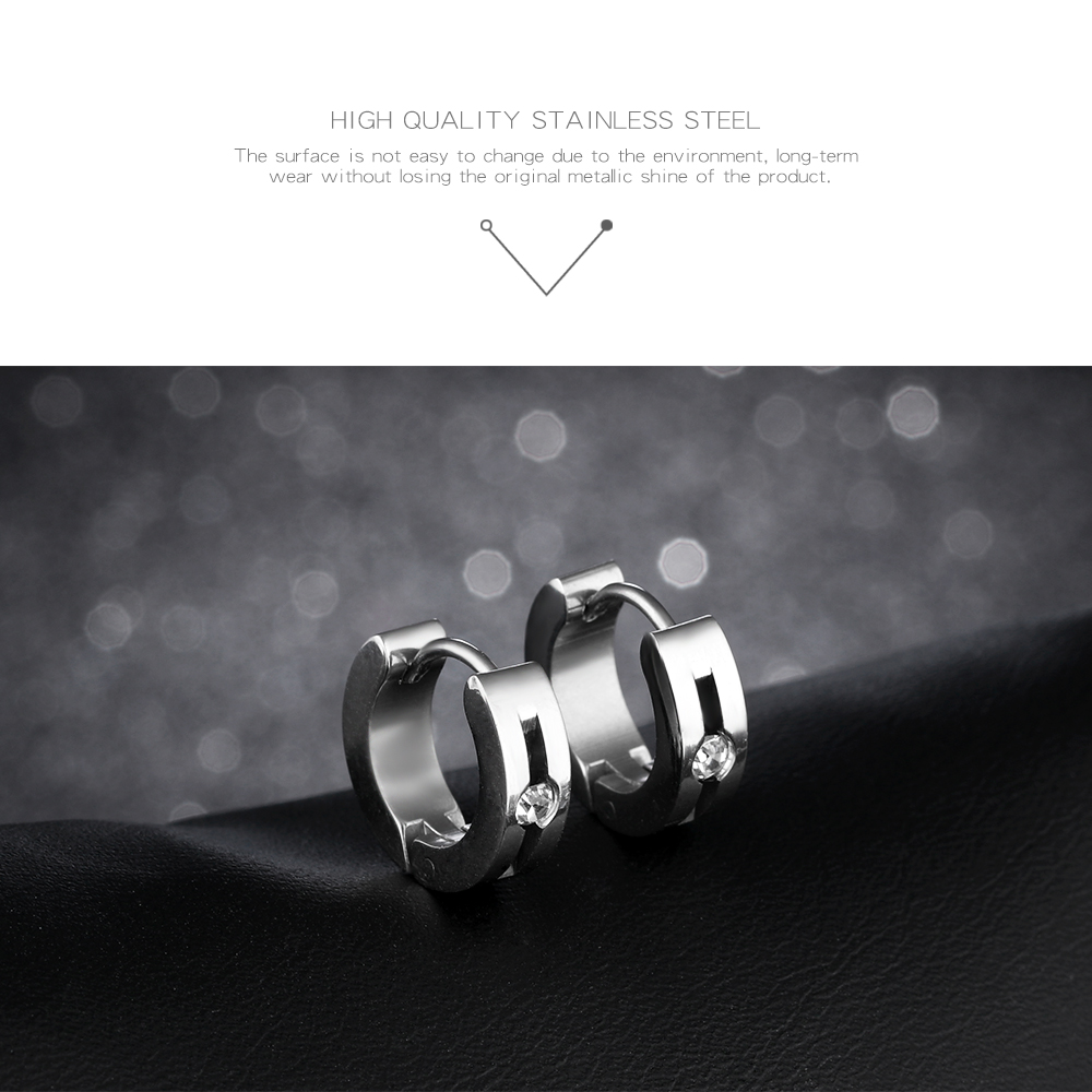 Wholesale Fashion Design Boy Stainless Steel Hoop Earring Clip