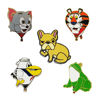Oneway wholesale cute cartoon badge custom metal hard enamel animal lapel pin cartoon pin badge