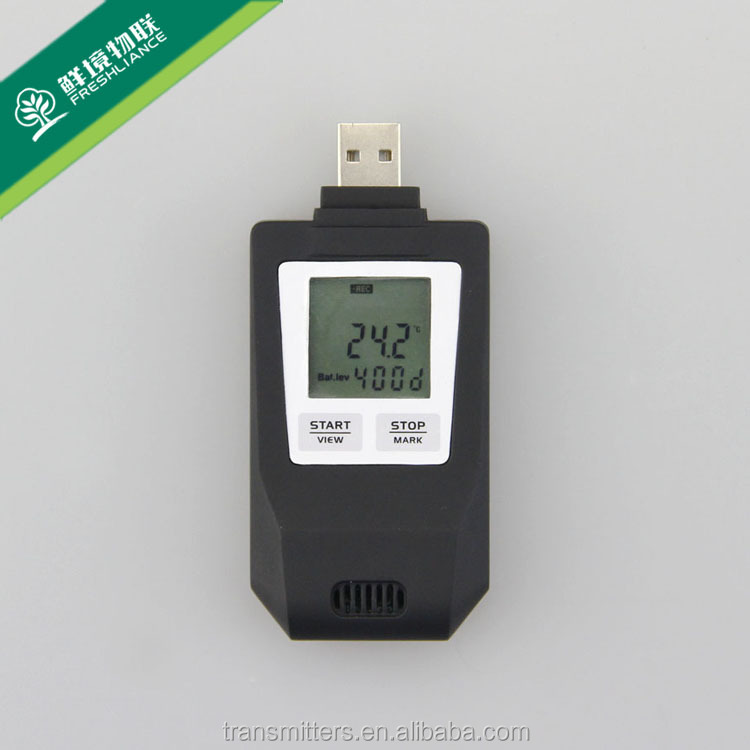Mini USB <strong>Temperature</strong> & Humidity with LCD display Data Logger 50000 memeries