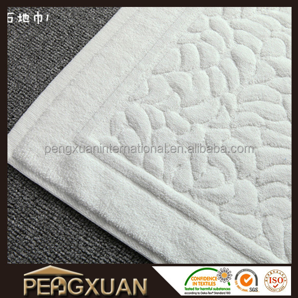 Factory supply Design your own plain luxury bath floor mat towel 100% cotton floor towel