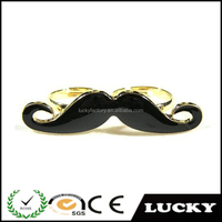 Double round perfect latest design jewelry beard bling rings
