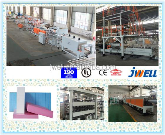 JWELL - 2017 Hot sale ! XPS extruding polystyrene foam board machine, xps twin screw extruder