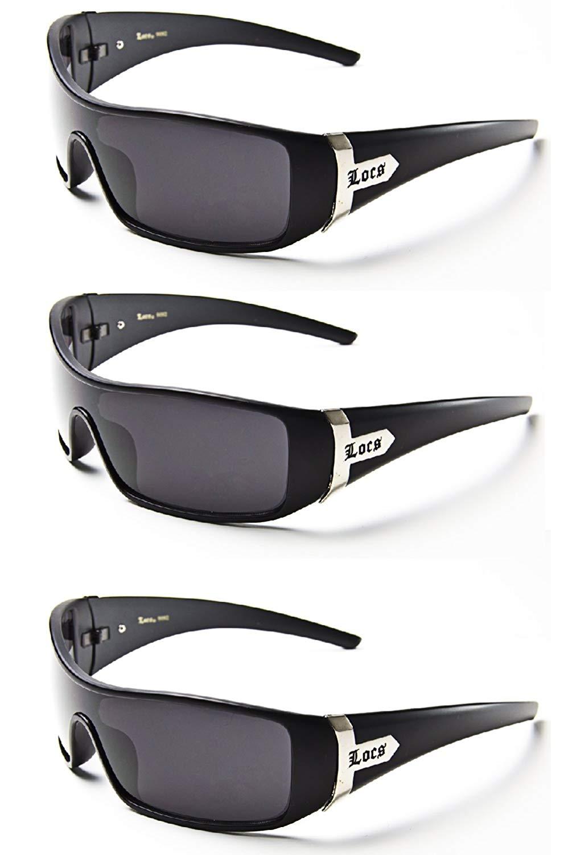 71575cce859 Get Quotations · LOCS SHADES sunglasses mens Eazy E gangster (3 Pack - Black