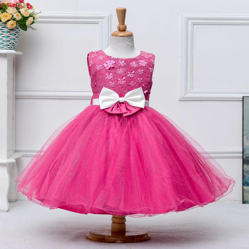 Chica de moda de Corea vestidos de estilo diferentes colores bebé 3 ...