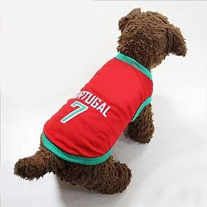 BuW New World Cup Soccer Sports Portugall Vest for Pet Dogs(M Size) pet stores dog clothes for sale fashion dog clothes