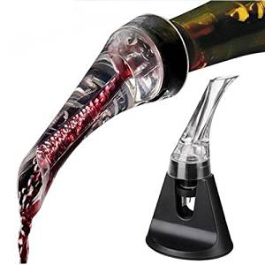 Wine Aerator Pourer with Stand-Premium Wine Aerator Decanter Spout and Drip-Free Pourer @HKbobo
