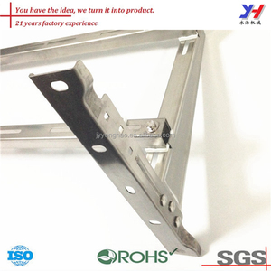 OEM ODM Custom Split Air Conditioner Spare Parts, Stainless Steel Folding Bracket, Stainless Steel L Bracket