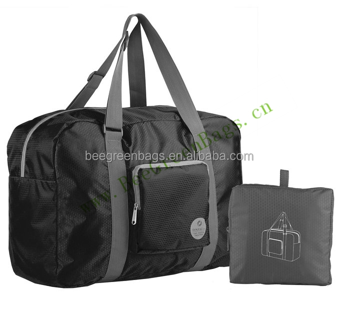 BeeGreen Custom 210D polyester sport gym folding travel duffle bag