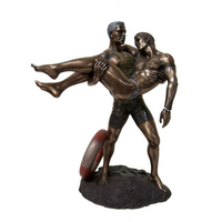 High quality metal bronze nude male model statue naked figure man sculpture