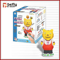 Shantou toys Bear coin bank diy ceramic painting for kids