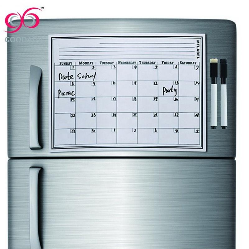 Custom ontwerpen afdrukken magnetische whiteboard voor koelkast magneet memo board