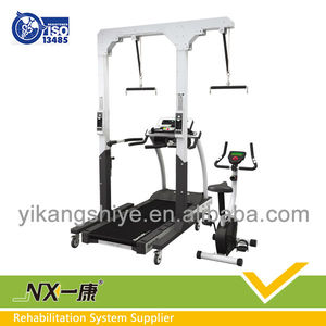 Rehabilitation product / walk training device with medical treadmill