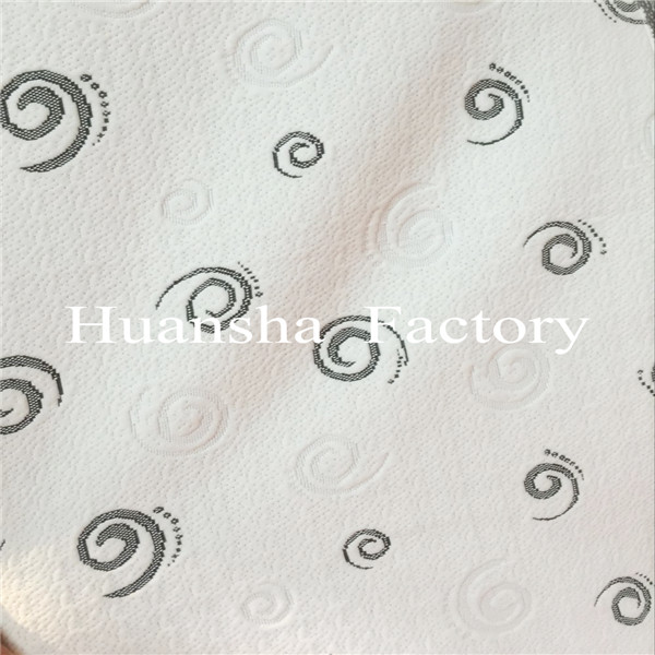Chinese Manufacturer Polyester Jacquard Black Mattress Fabric in Roll