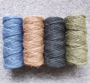 100% nature fibre grey jute twine,eco-friendly jute twisted twine, jute string twine spool