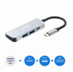 4 In 1 Type C Hub to HDMI 4K with 2 USB 3.0 and PD Charging Port USB C Multiport Adapter for MacBook Pro 2016 2017