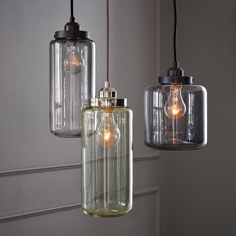 Vintage Loft Industrial American Lustre Glass Jar Edison Pendant Lamp Kitchen Dinning Resturant Room Modern Home Decor Lighting