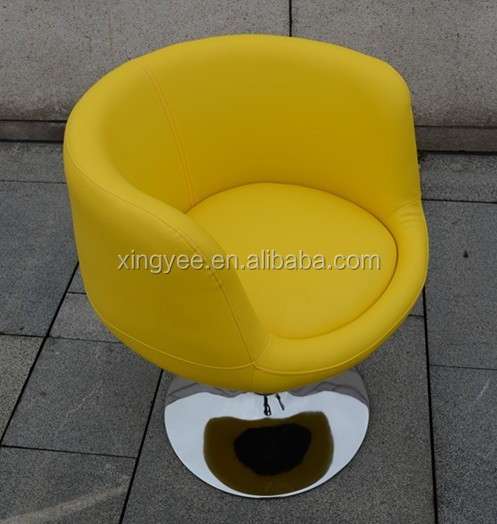 Modern Living Room Furniture Of House PU Leather School Armchair Round Tub Chair Internet Cafe Chairs