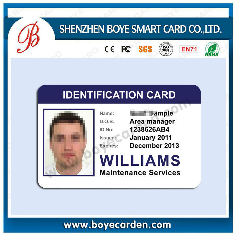 sample identification cards