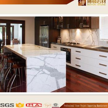 Boton Stone Kitchen Worktop White Calacatta Marble Benchtop