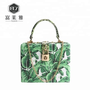 Exotic green wooden evening handbag women for party