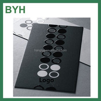 Black cardboard paper business cards with UV print thick cardboard business cards business card with punch hole