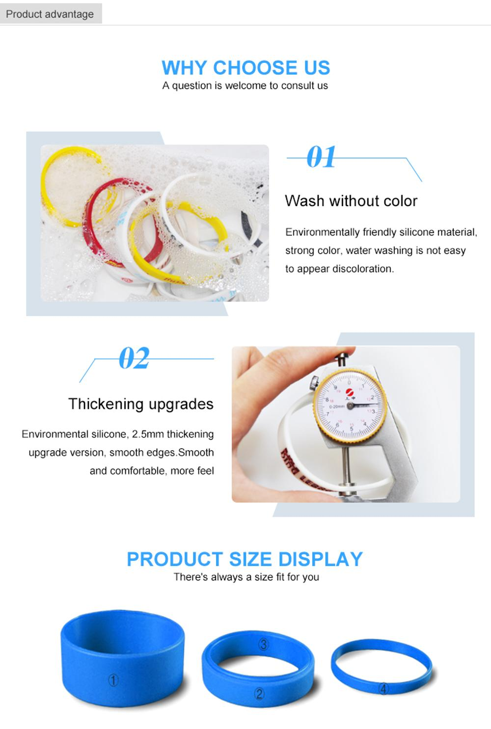 Color Changing Silicone Wristbands Silicone Bracelet For