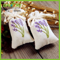 lavender cotton linen embroidered bag