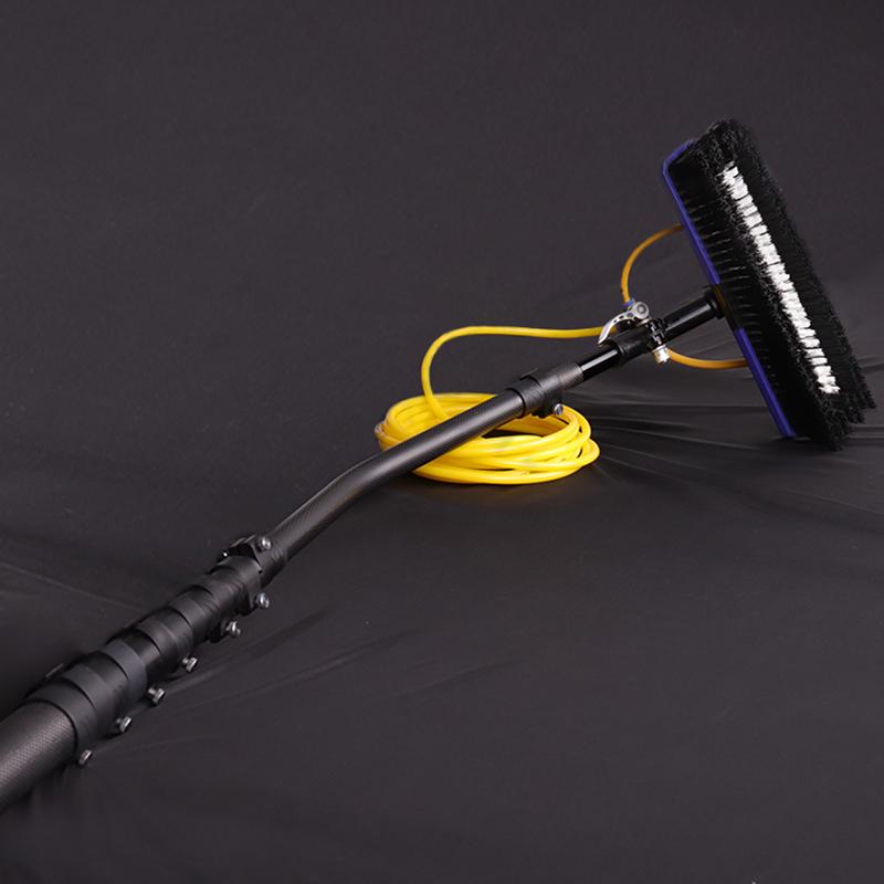 Легкий вес изогнутые 100% из углеродного волокна 3k глянцевые вставки на изготовление размеров под заказ телескопическая щётка для чистки окон с гибким полюсом