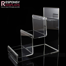 Modern ladder-shaped counter display stand acrylic manufacturer